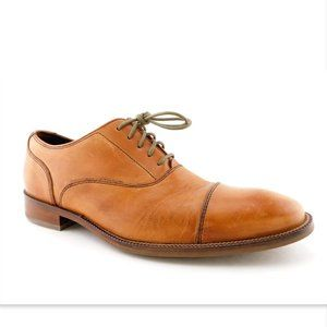 COLE HAAN Natural Tan Leather Cap Toe Oxfords 8.5